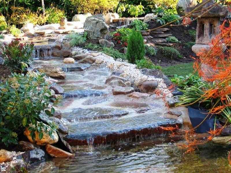 Waterval In Tuin : Uitloop waterval corne de bont hoveniers