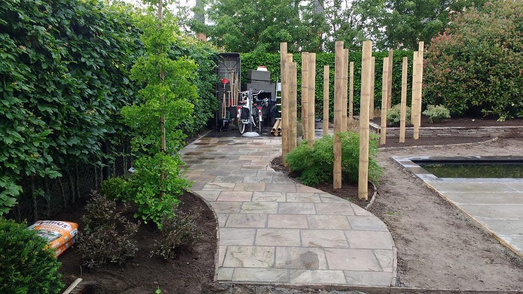 Tuin Houten Palen : A corne de bont hoveniers japanse tuin roosendaal bamboe palen