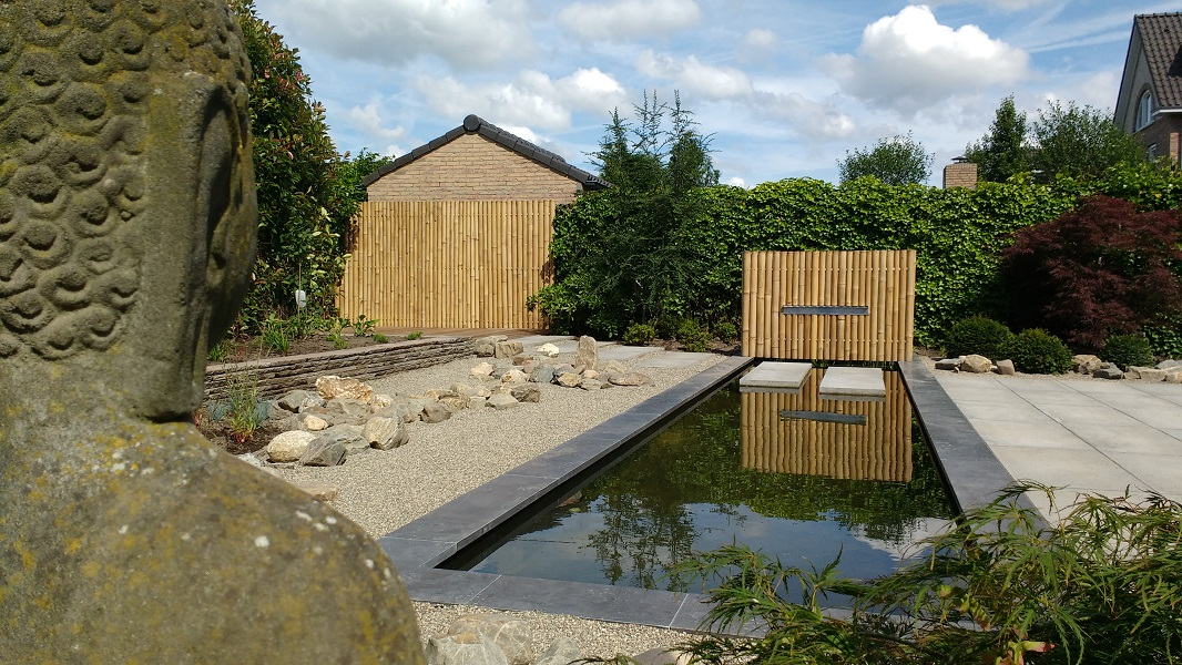 C corne de bont hoveniers japanse tuin roosendaal bamboe palen