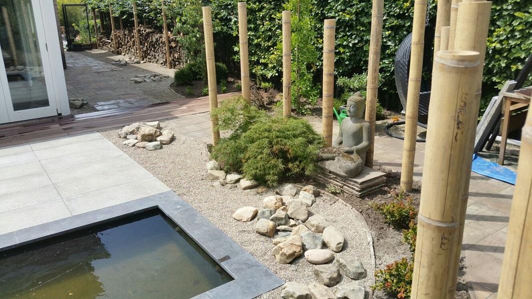 D corne de bont hoveniers japanse tuin roosendaal bamboe palen
